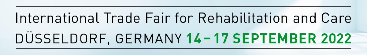 Graphic: 14 to 17 September 2022, REHACARE International Trade Fair for Rehabilitation and Care, Düsseldorf, Germany