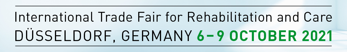 Graphic: 6 to 9 October 2021, REHACARE International Trade Fair for Rehabilitation and Care, Düsseldorf, Germany
